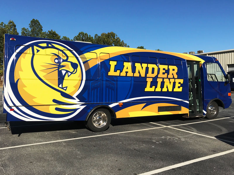 Featured Project | Lander University Bus Wrap